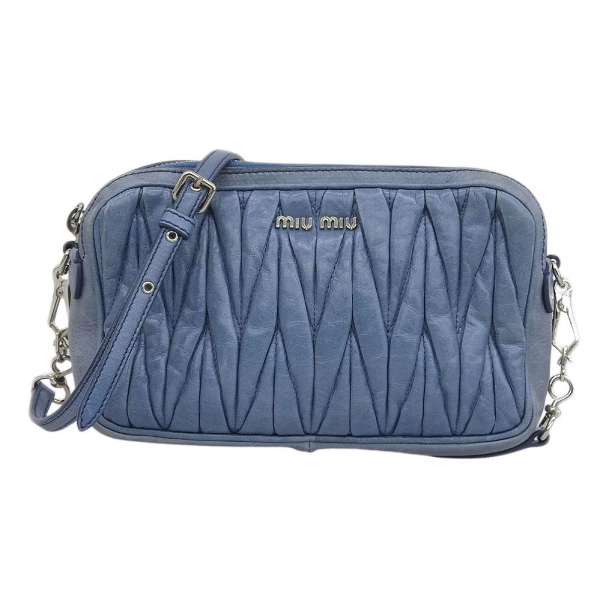 Miu Miu N Blue Leather handbag for Women N
