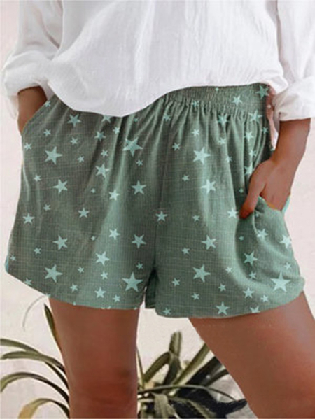 Yoins Casual Star Side Pockets Shorts