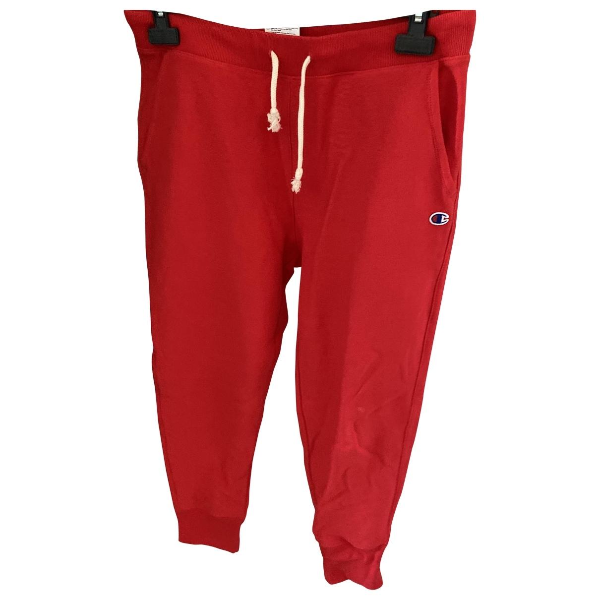 Pantalon en Algodon Rojo Champion