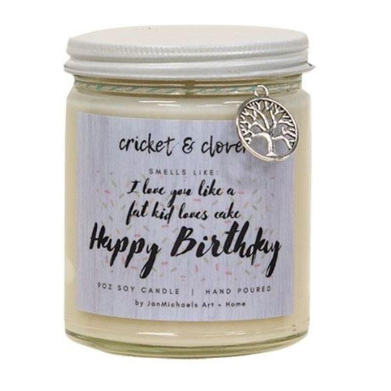 Happy Birthday Jar Candle Maple French Toast 10oz - White (White)