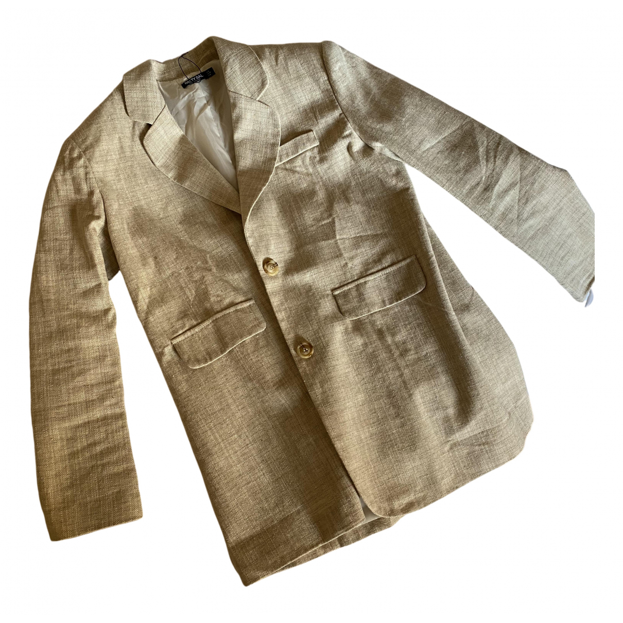 Nasty Gal - Veste   pour femme en coton - beige