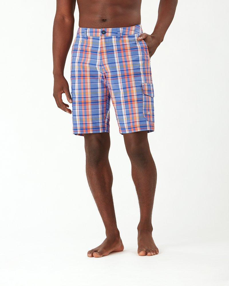 Cayman Bahama Madras 10-Inch Cargo Shorts