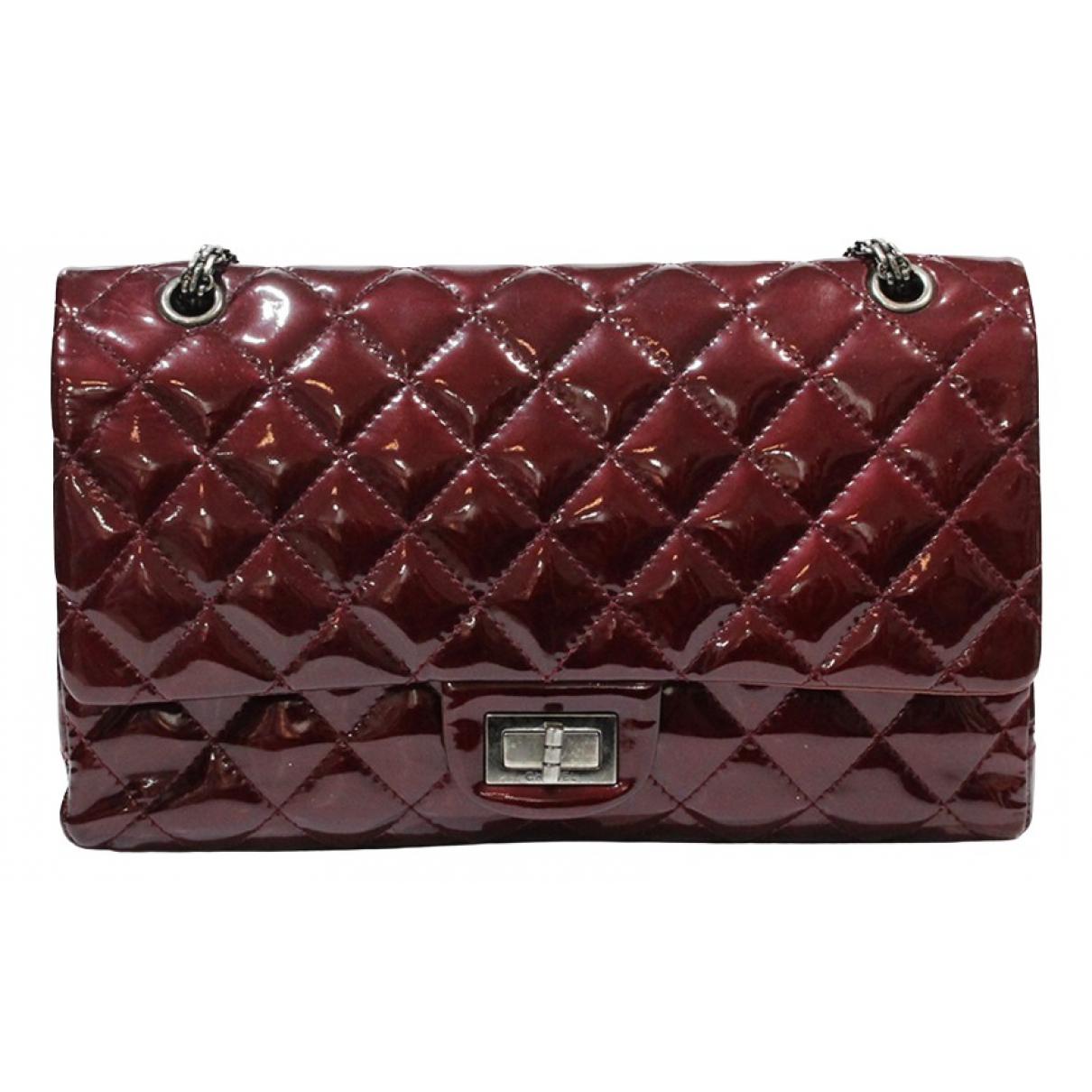 Chanel 2.55 Handtasche in  Bordeauxrot Lackleder