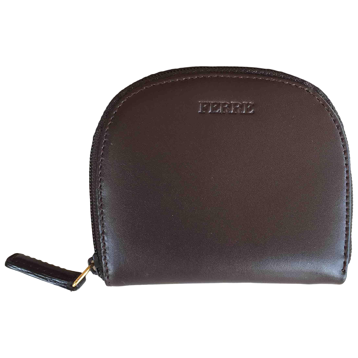 Gianfranco Ferré \N Brown Leather Small bag, wallet & cases for Men \N