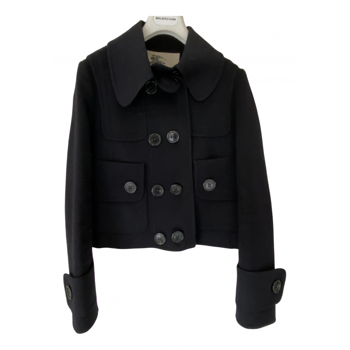 Burberry N Navy Wool coat for Women 8 UK