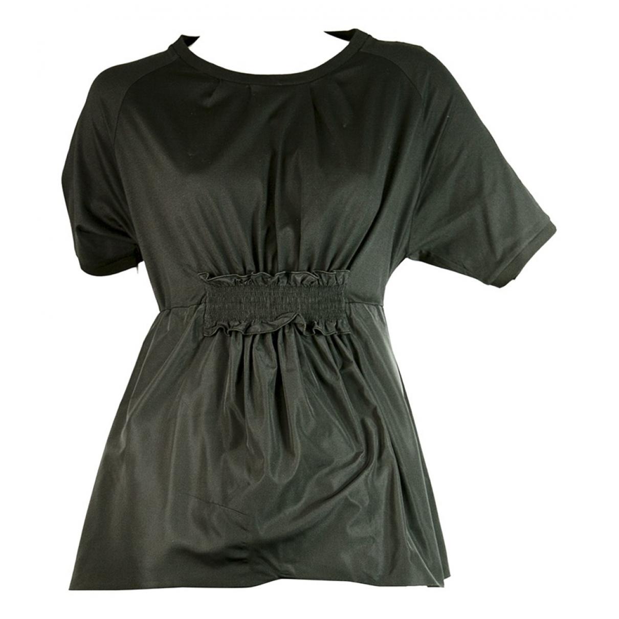 Moncler - Top   pour femme en coton - noir