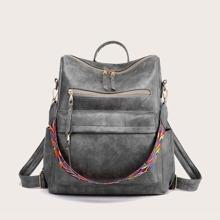 Vintage Design Large Capacity School Backpack