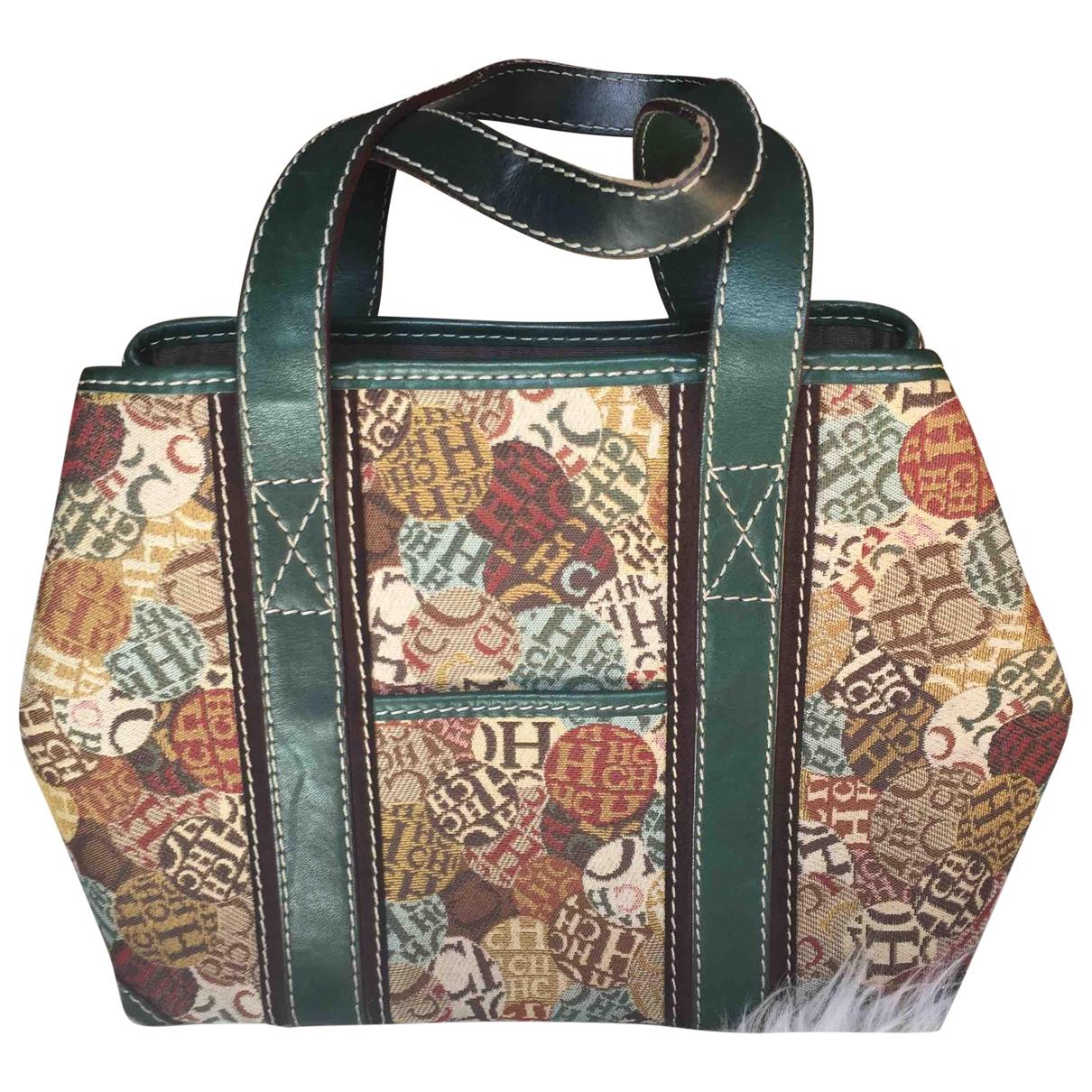 Carolina Herrera \N Handtasche in  Gruen Leinen