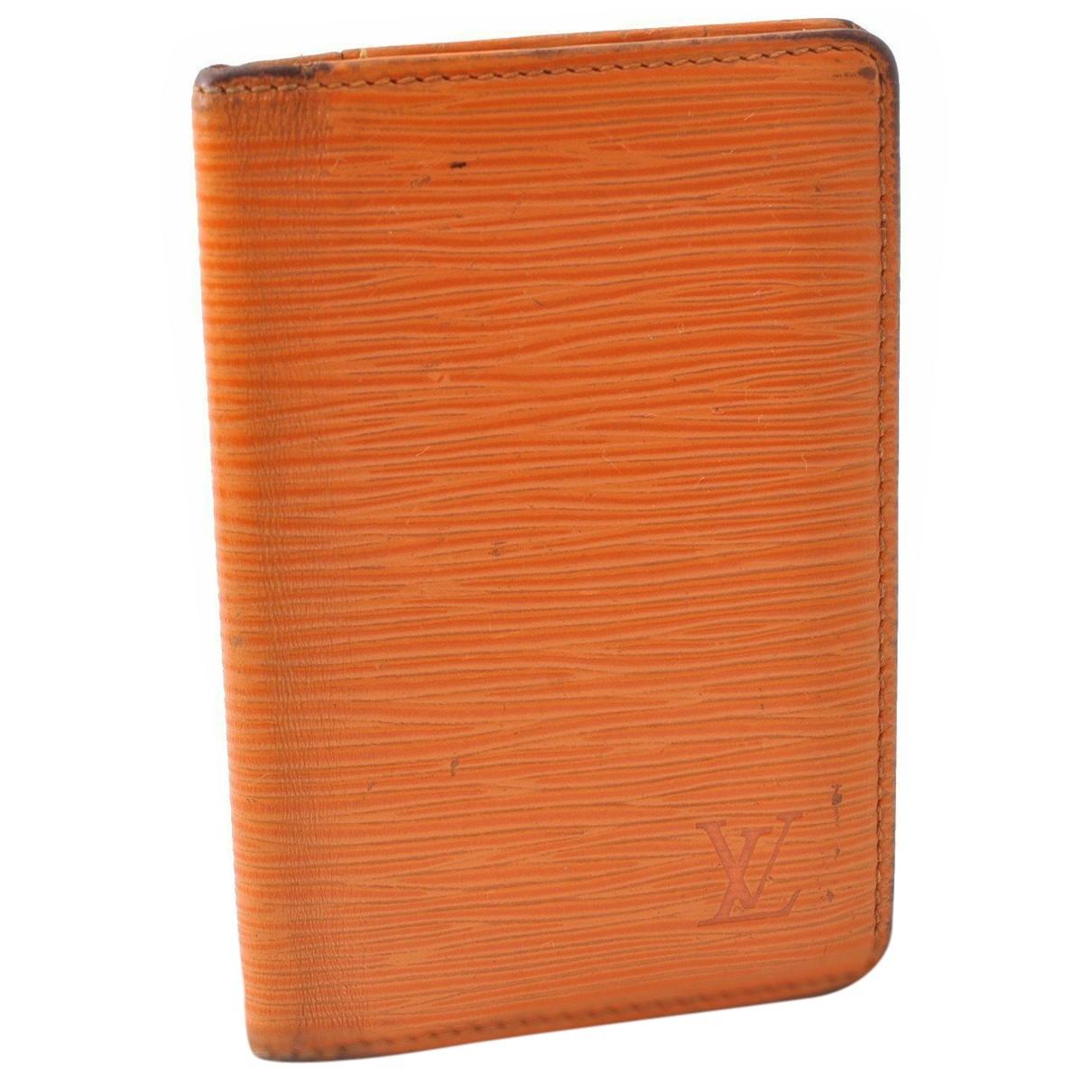Louis Vuitton - Petite maroquinerie   pour femme en cuir - orange