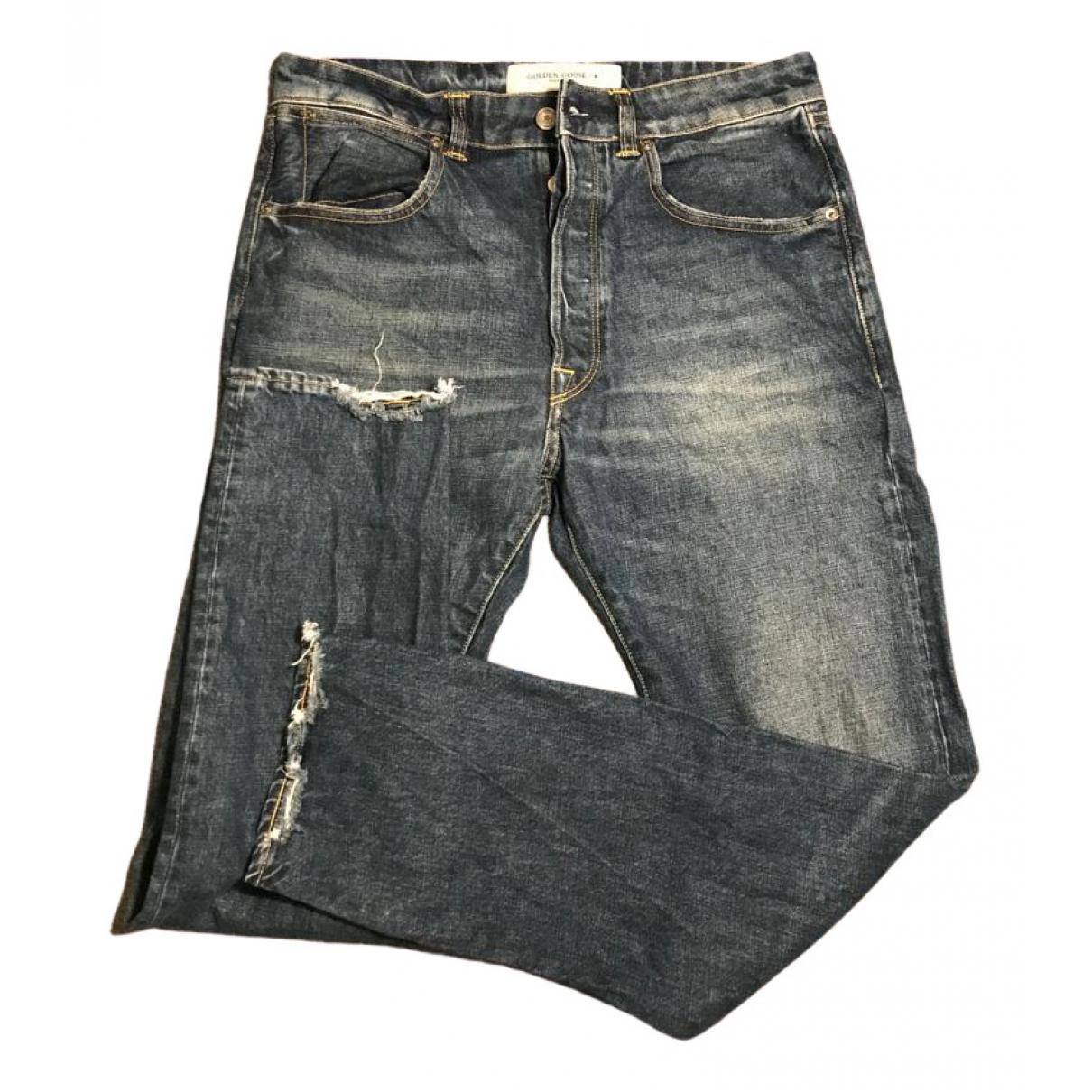 Golden Goose N Blue Cotton Jeans for Men 31 US