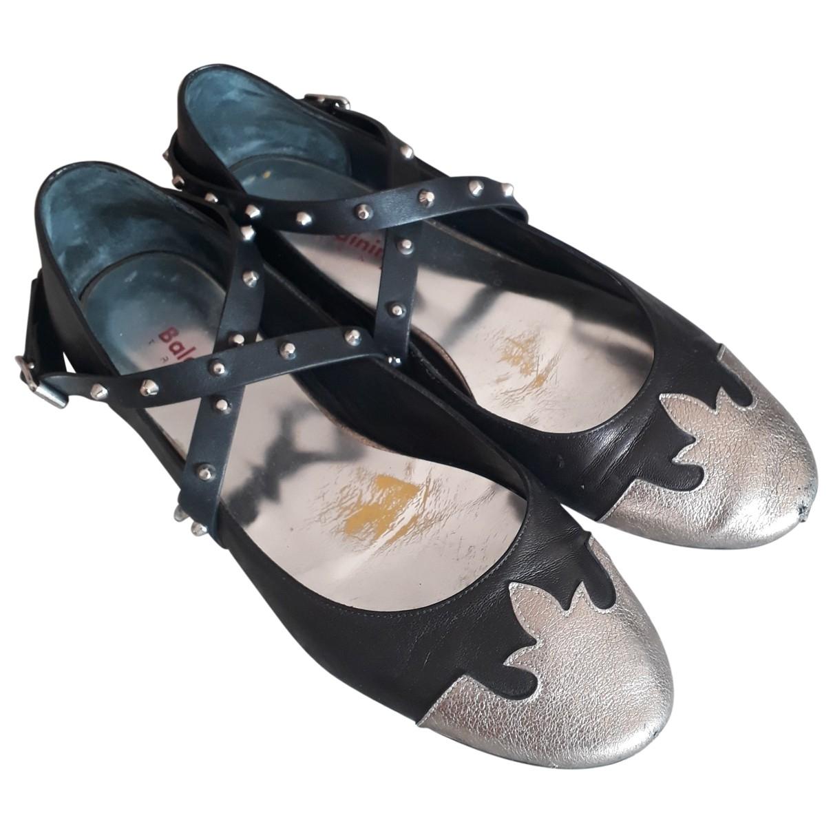 Baldinini - Ballerines   pour femme en cuir - noir