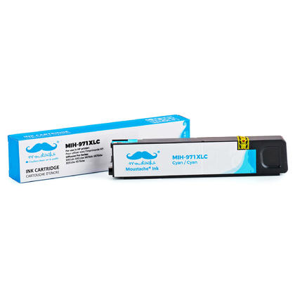 Compatible HP 971XL CN626AM cartouche d'encre cyan haute capacité - Moustache®