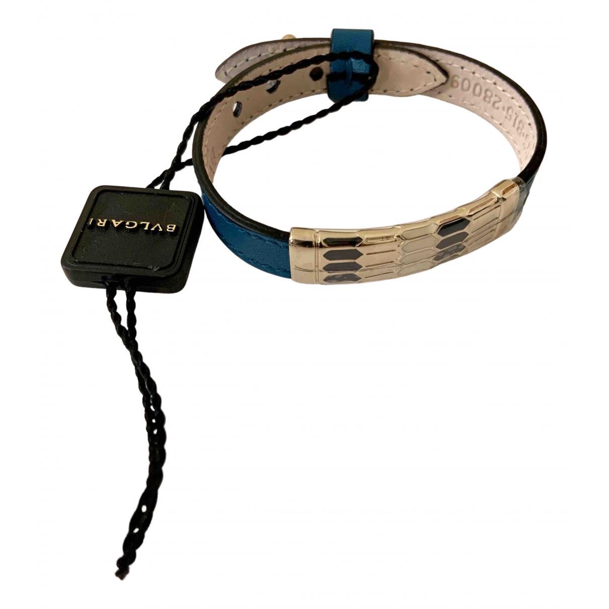 Bvlgari - Bracelet Serpenti pour femme en cuir - turquoise