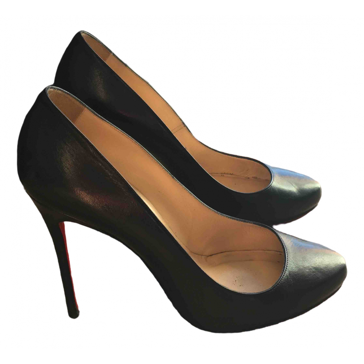 Christian Louboutin \N Black Leather Heels for Women 39 EU