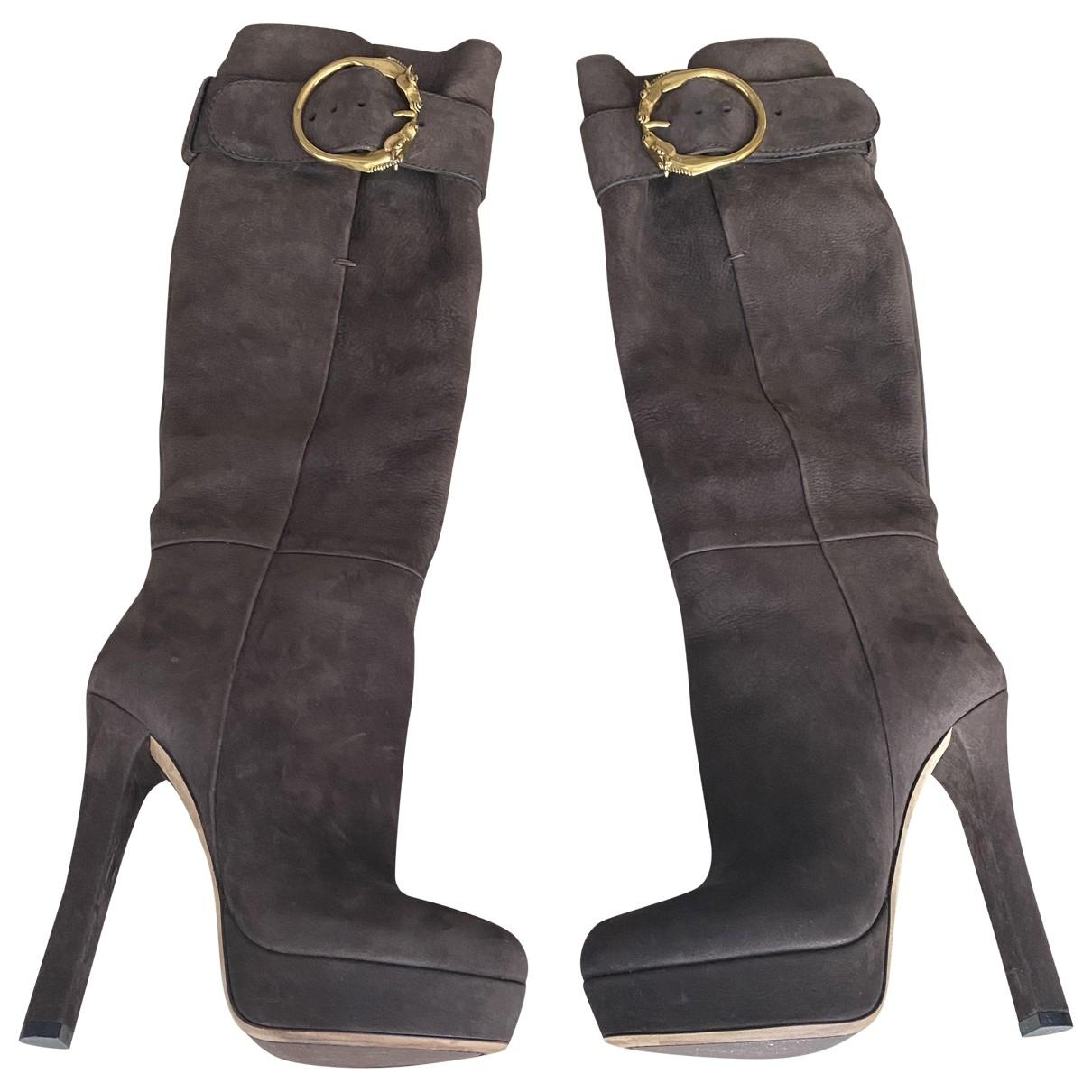 Gucci \N Stiefel in  Braun Lackleder