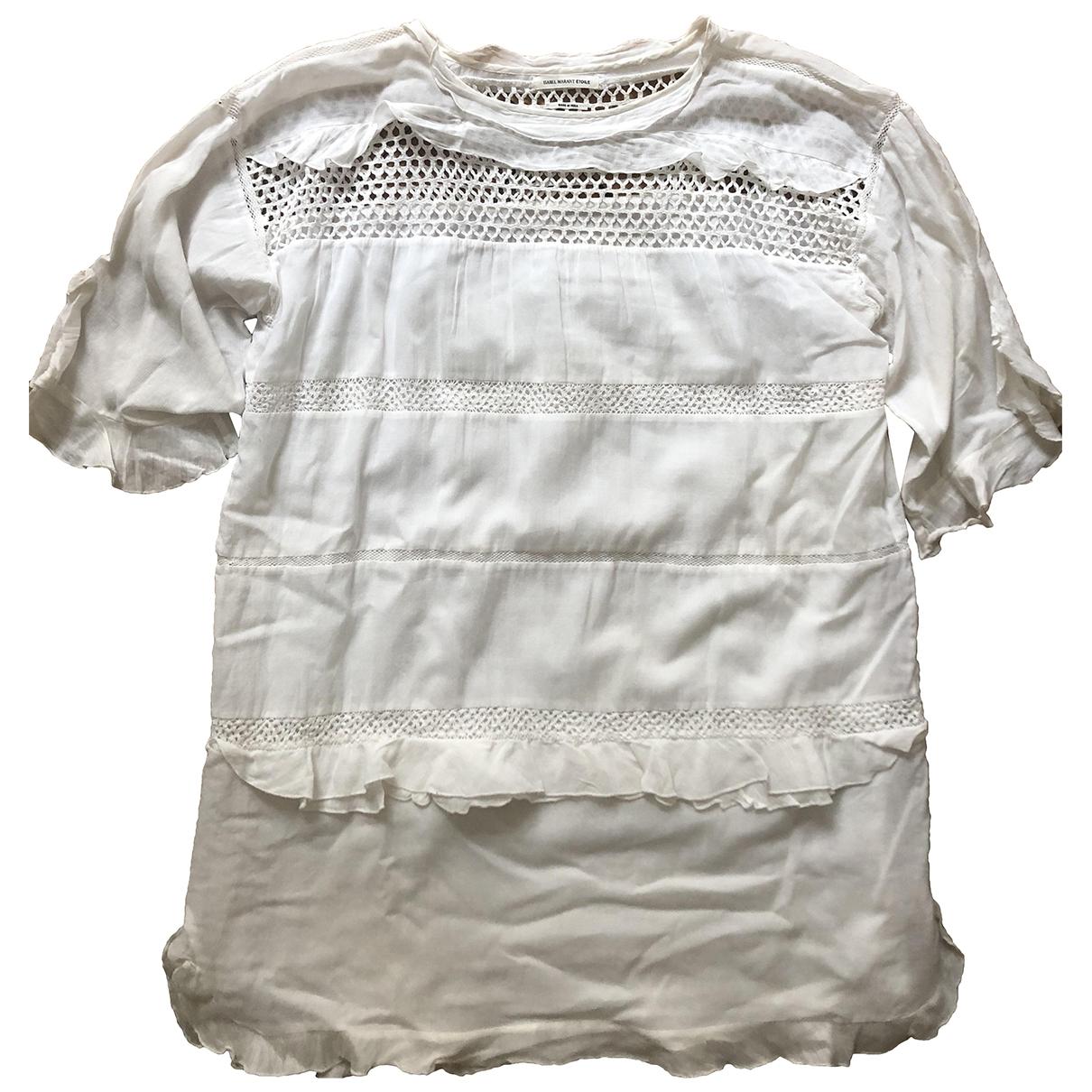 Isabel Marant Etoile \N Kleid in  Weiss Baumwolle