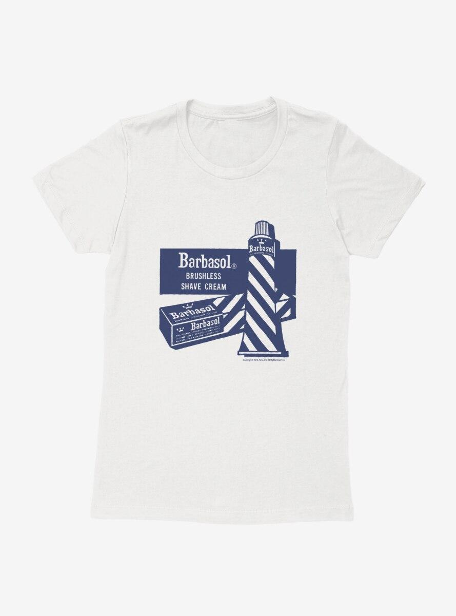Barbasol Brushless Shave Cream Womens T-Shirt