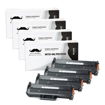 Compatible Samsung MLT-D101S Black Toner Cartridge - Moustache - 4/Pack