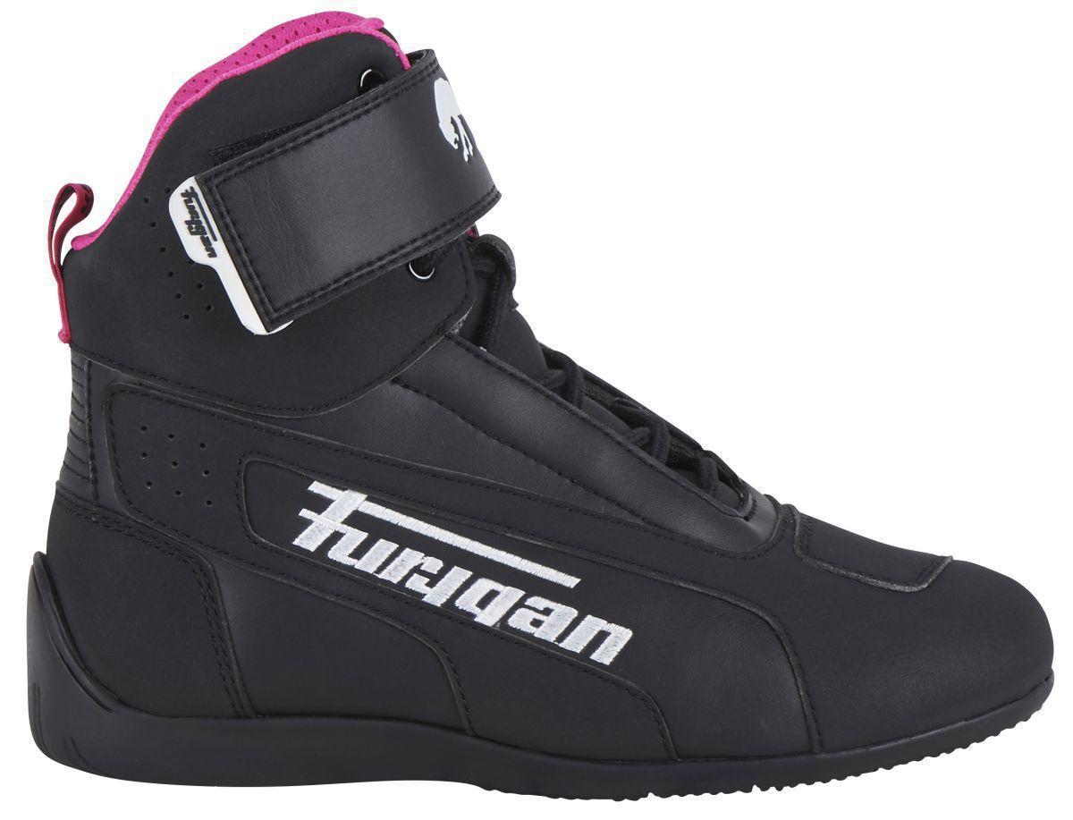 Furygan Zephyr D3O Lady Zapatos Motorista Para Mujer Negro Blanco Rosa 39