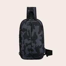 Guys Camo Graphic Sling Bag