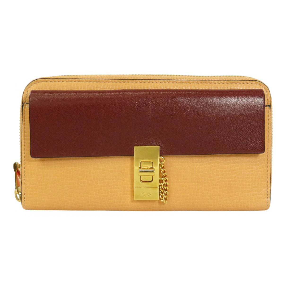 Chloe Drew Portemonnaie in  Orange Leder