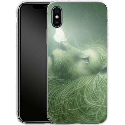 Apple iPhone X Silikon Handyhuelle - In the Calm of the Pale Moonlight von Dan May