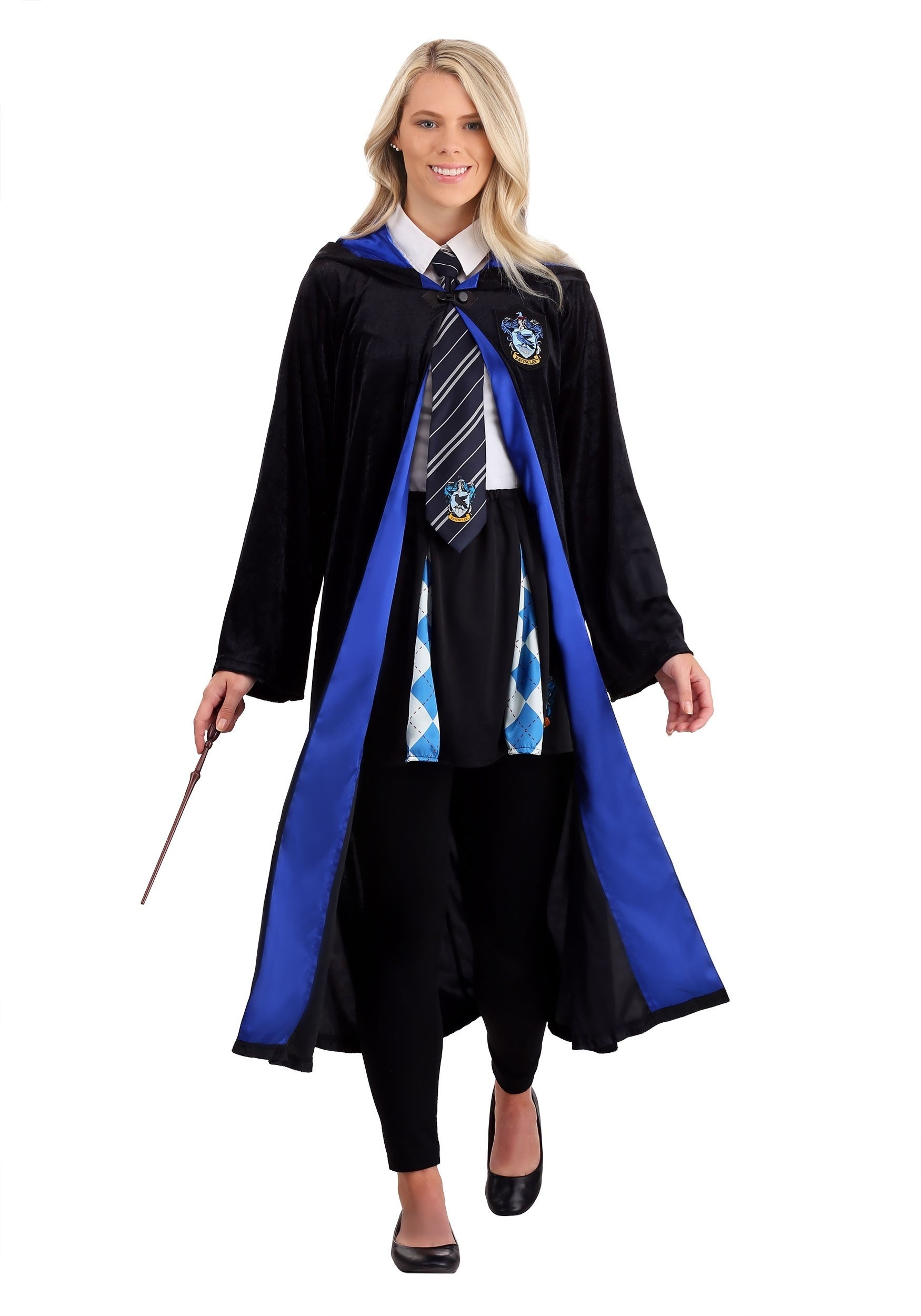 Deluxe Harry Potter Plus Size Ravenclaw Robe Costume for Adults