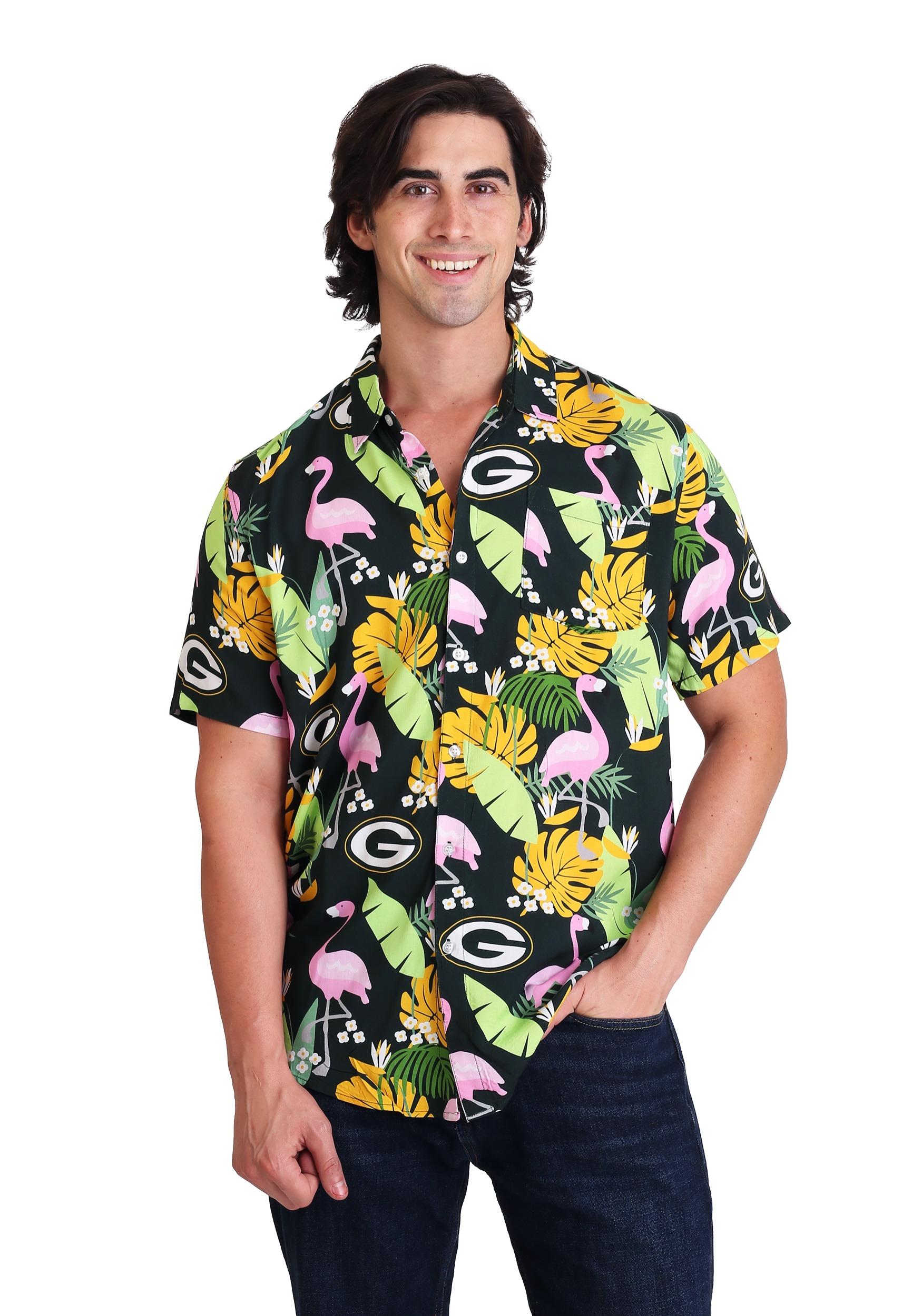 Mens Green Bay Packers Floral Shirt