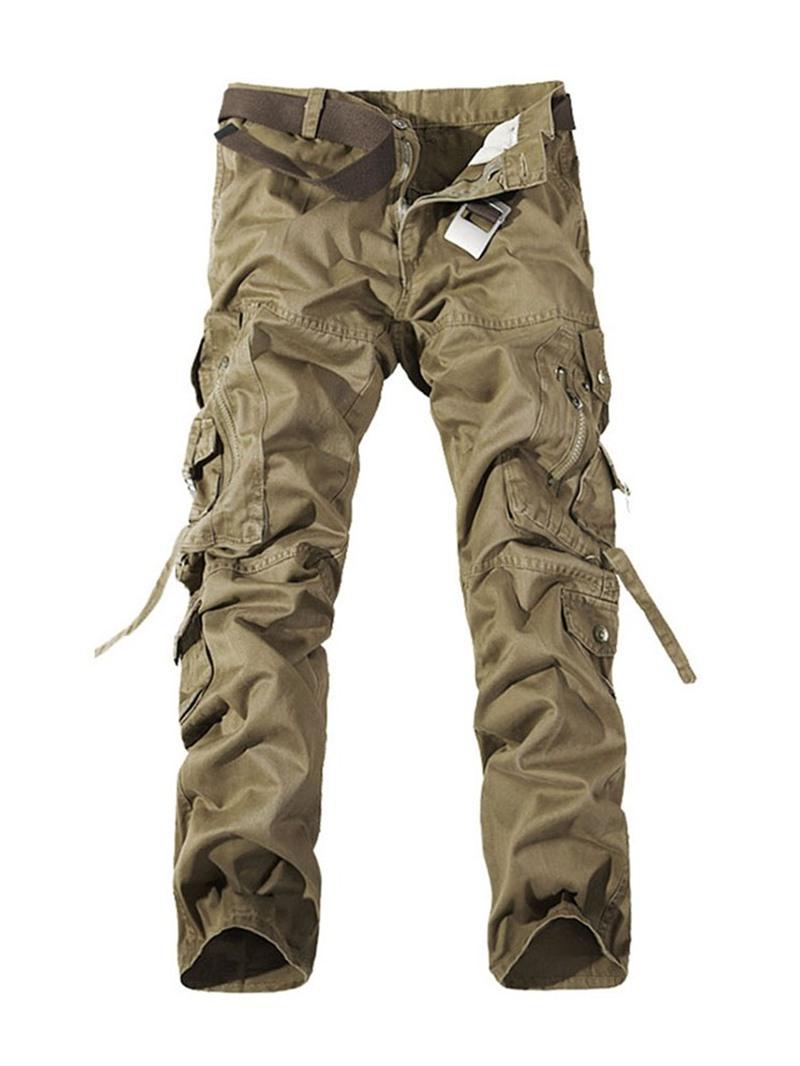 Ericdress Pocket Zipper Men's Casual Pants