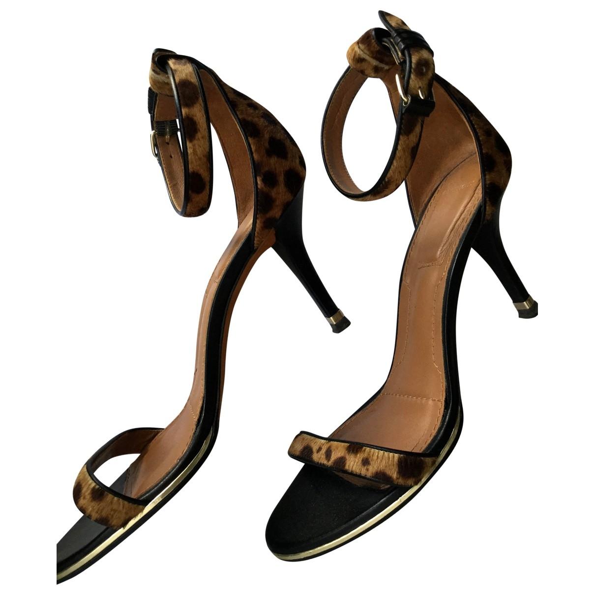 Givenchy - Sandales   pour femme en veau facon poulain - marron