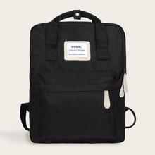 Pocket Front Square Shaped Backpack