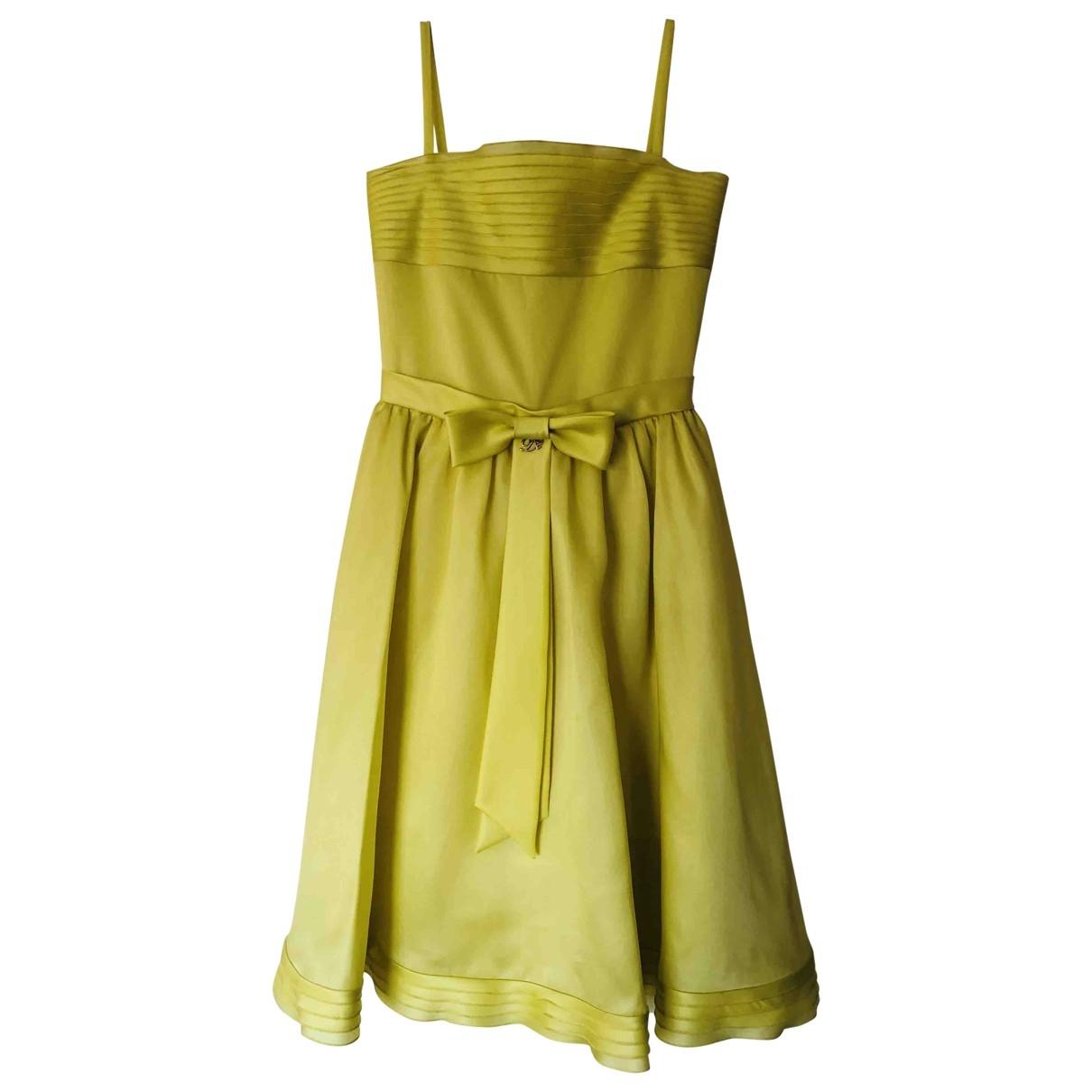 Dsquared2 - Robe    pour enfant en soie - jaune
