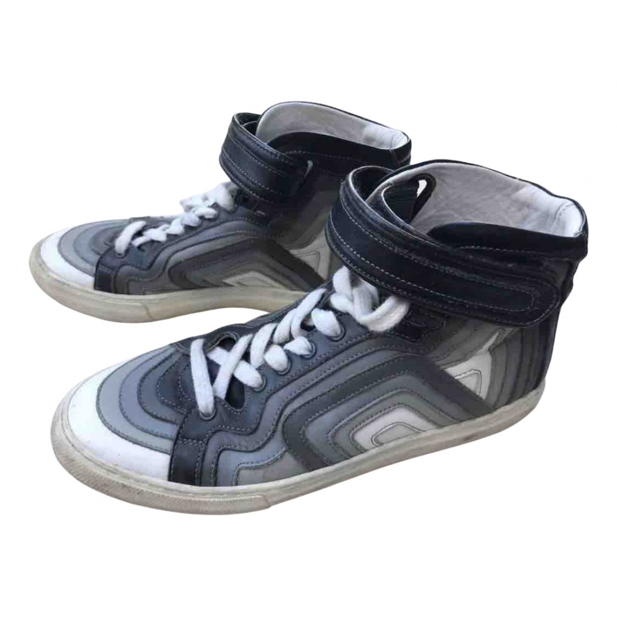 Pierre Hardy N Leather Trainers for Men 40 EU