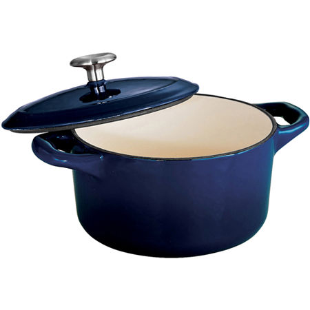 Tramontina Gourmet 24-Ounce Enameled Cast Iron Covered Small Cocotte, One Size , Blue