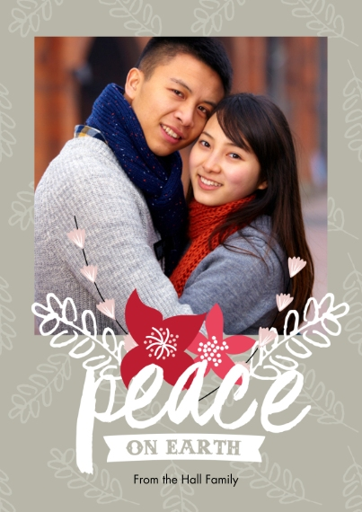 Holiday Photo Cards 5x7 Cards, Premium Cardstock 120lb with Scalloped Corners, Card & Stationery -A Dash of Joy