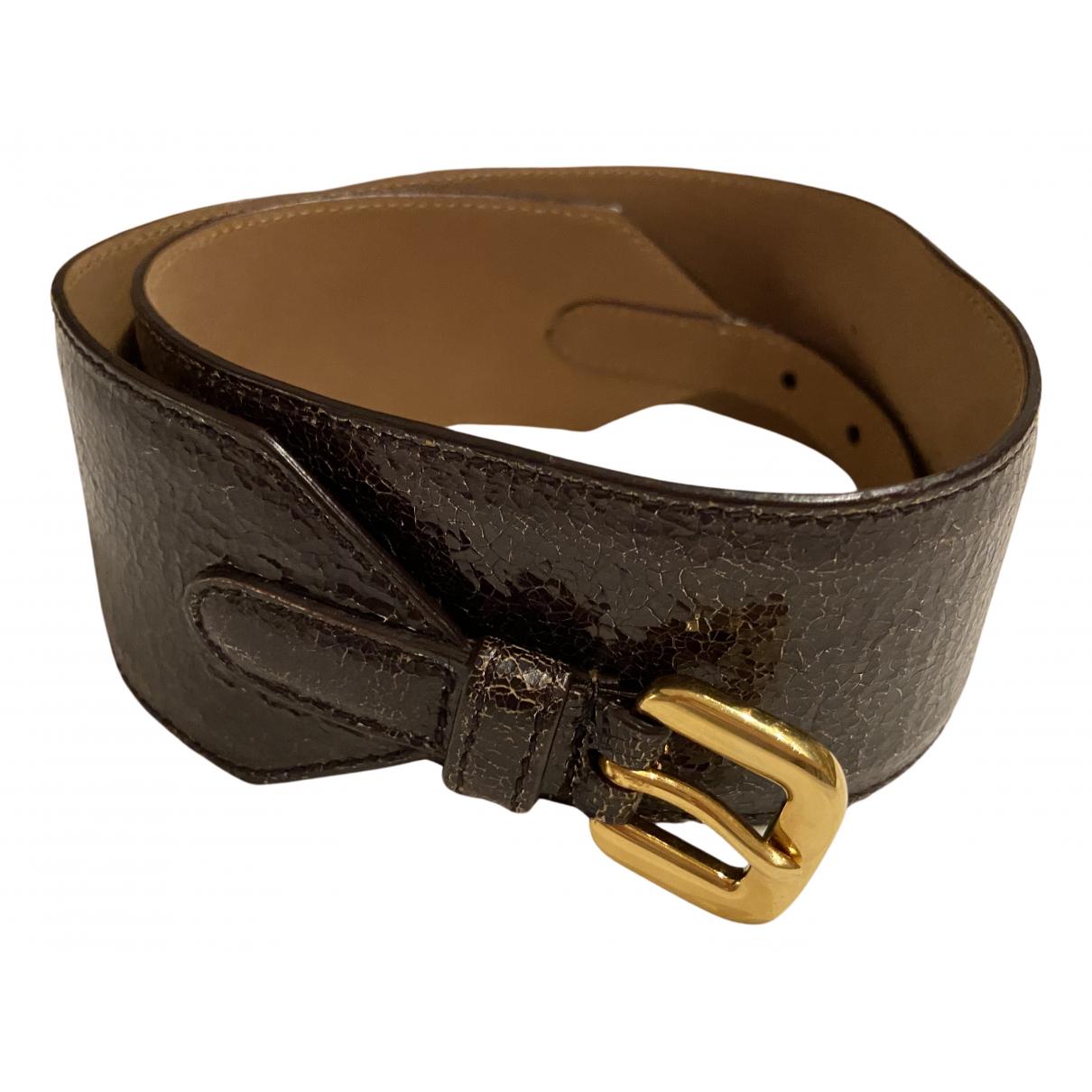 Prada N Brown Leather belt for Women 70 cm