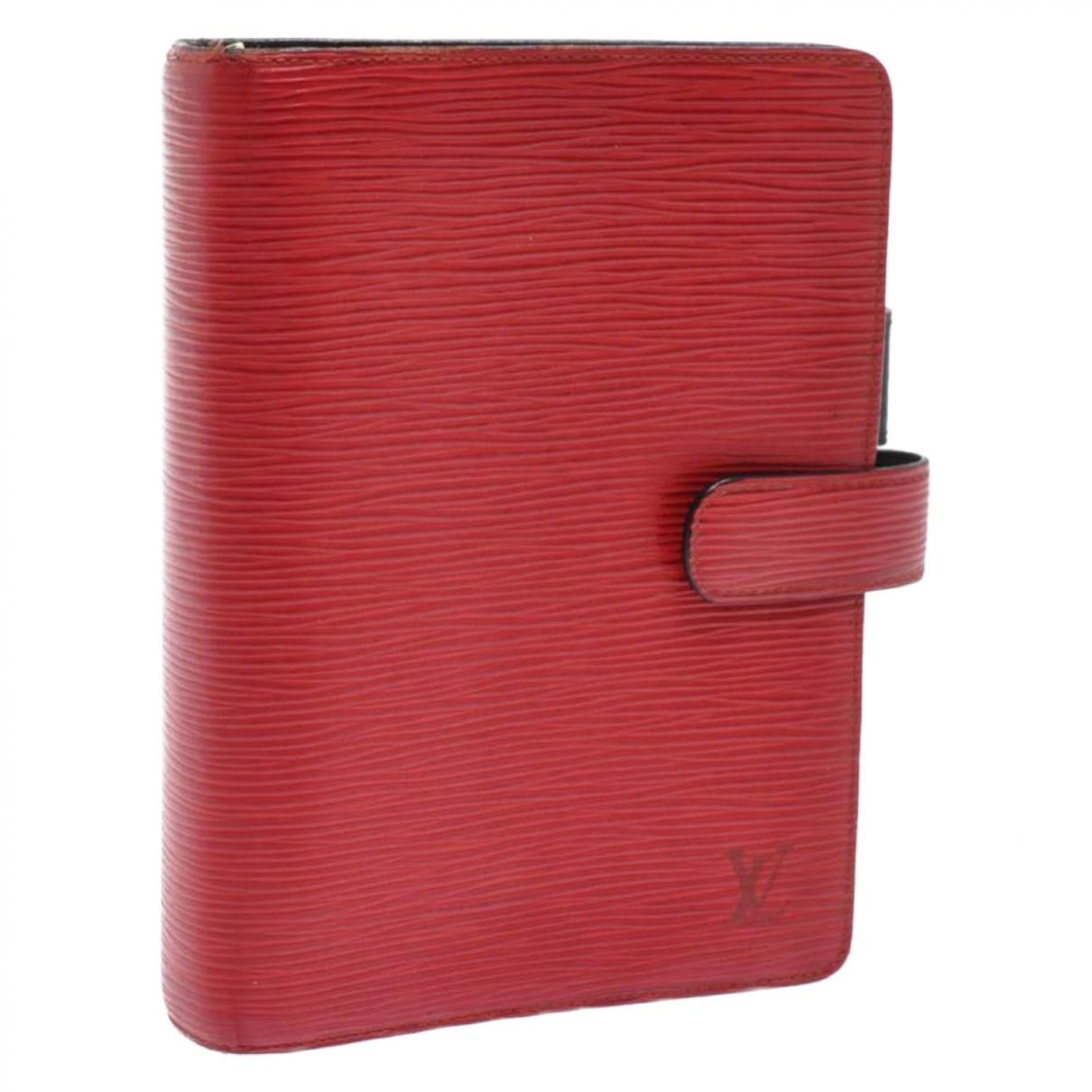Louis Vuitton - Objets & Deco Couverture dagenda PM pour lifestyle en cuir - rouge