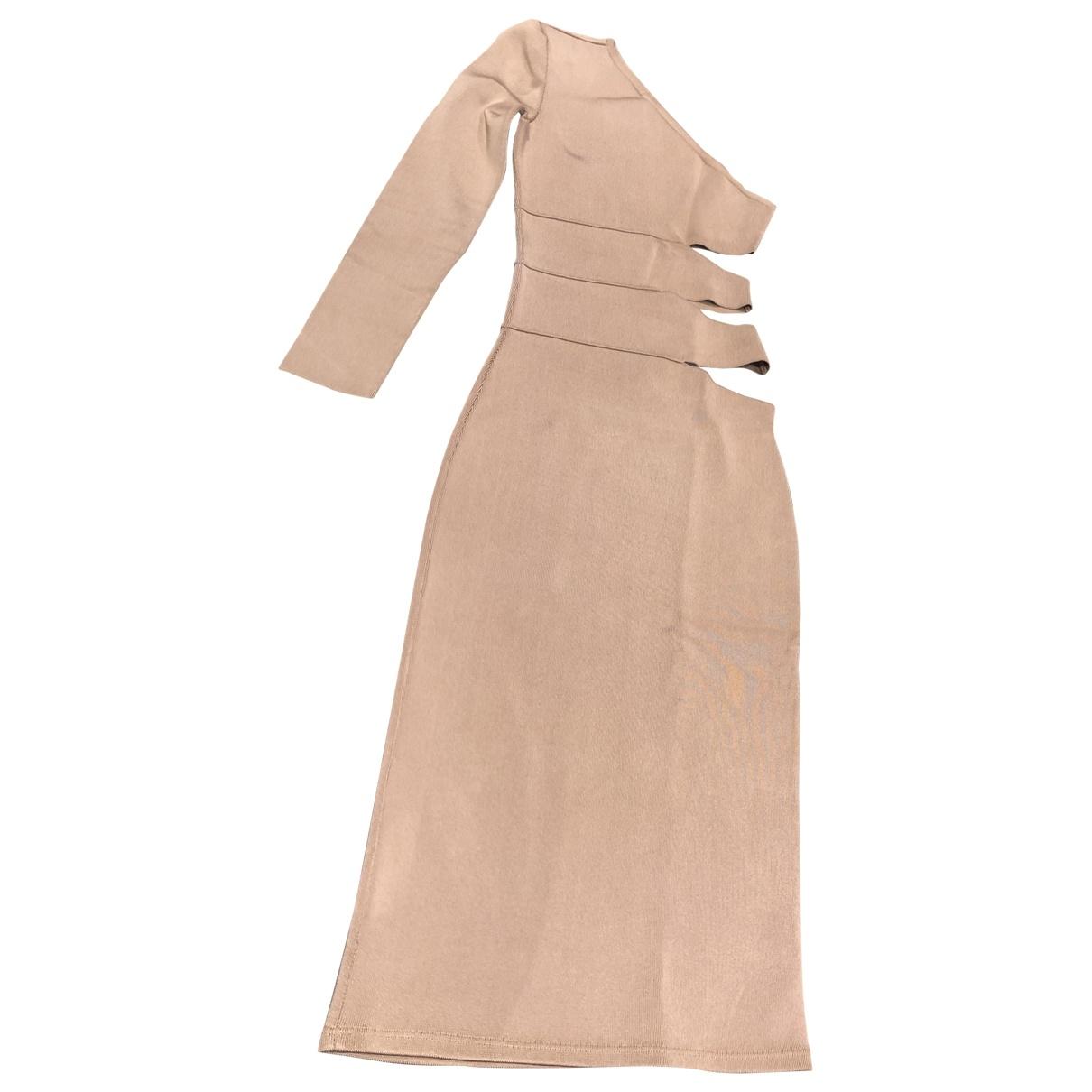 Balmain \N Beige dress for Women 36 FR