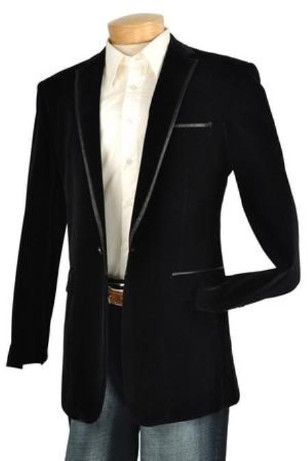 Mens High Fashion Fine Slim Fit velvet Jacket / Blazer / Jacket
