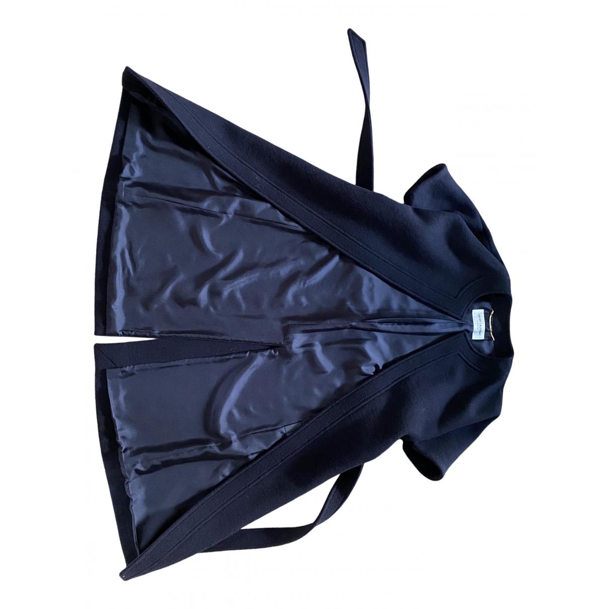 Saint Laurent \N Black Wool coat for Women 34 FR