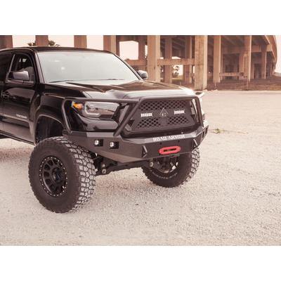 Road Armor Stealth Winch Front Bumper with Pre-Runner Guard (Black) - 9161F4B