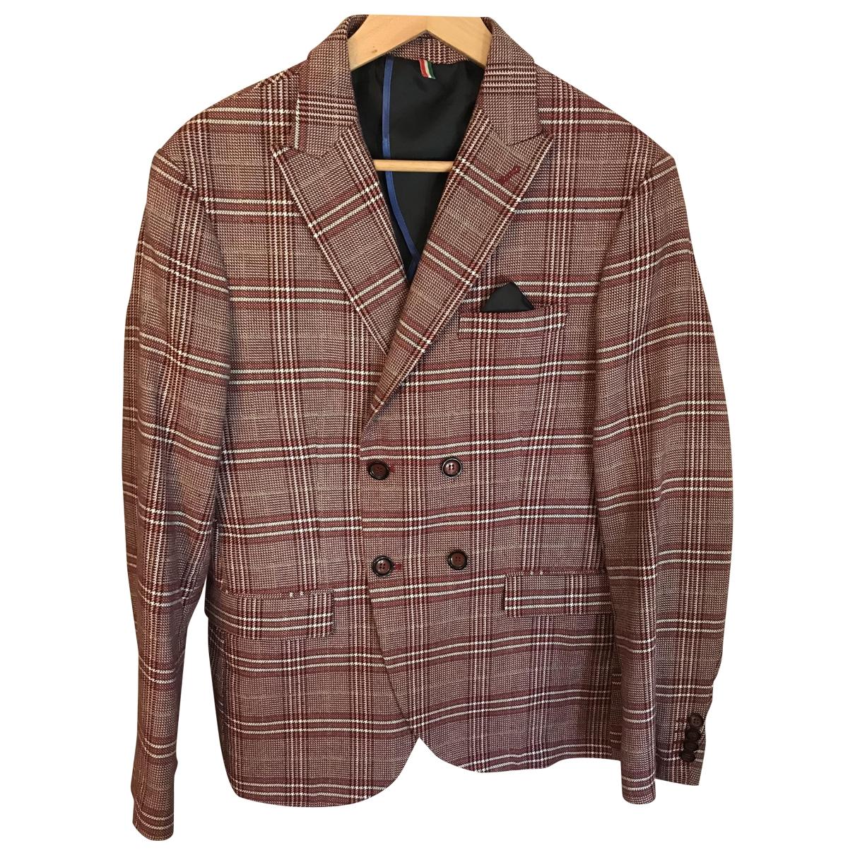 - Costumes   pour homme en coton - bordeaux