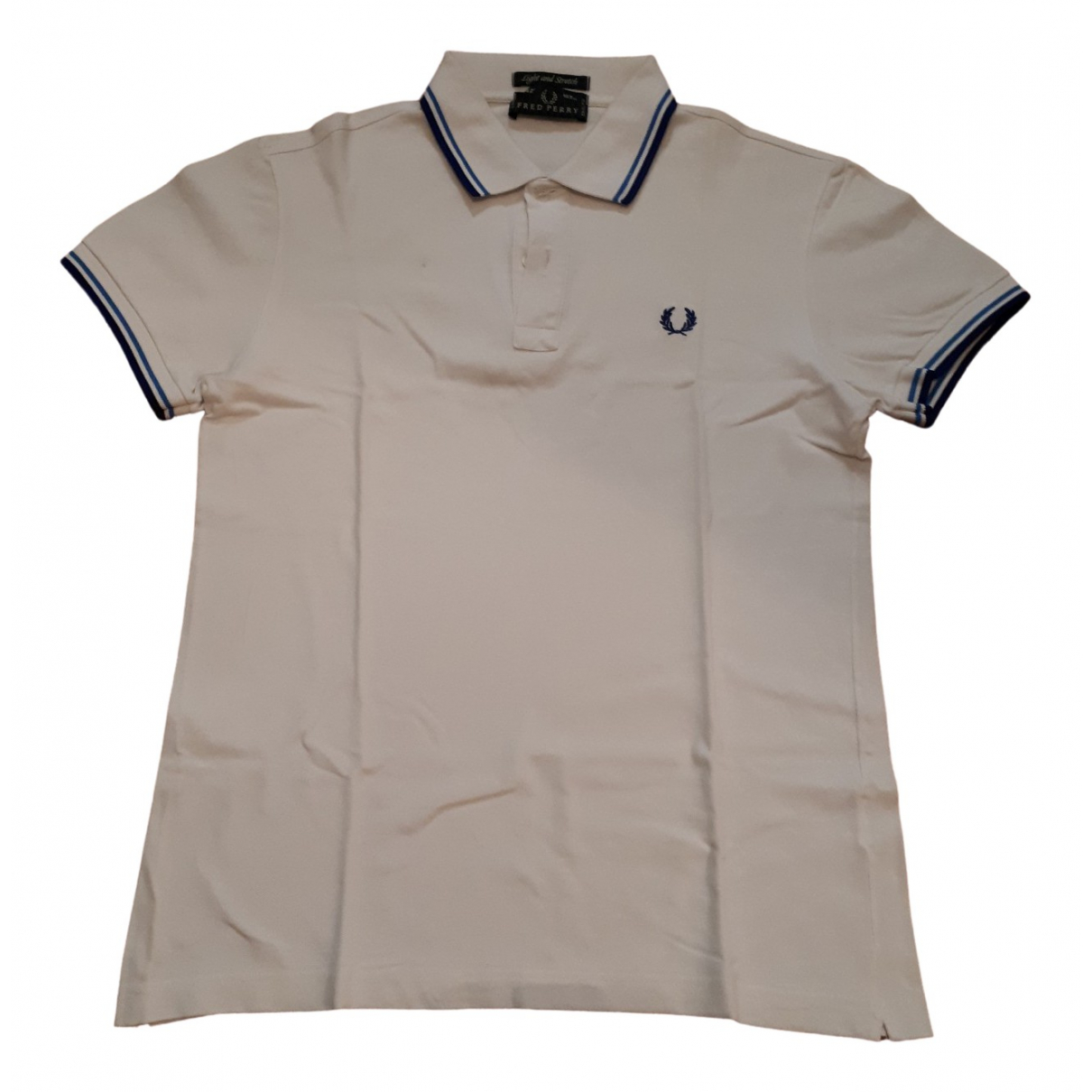 Polo en Algodon Blanco Fred Perry