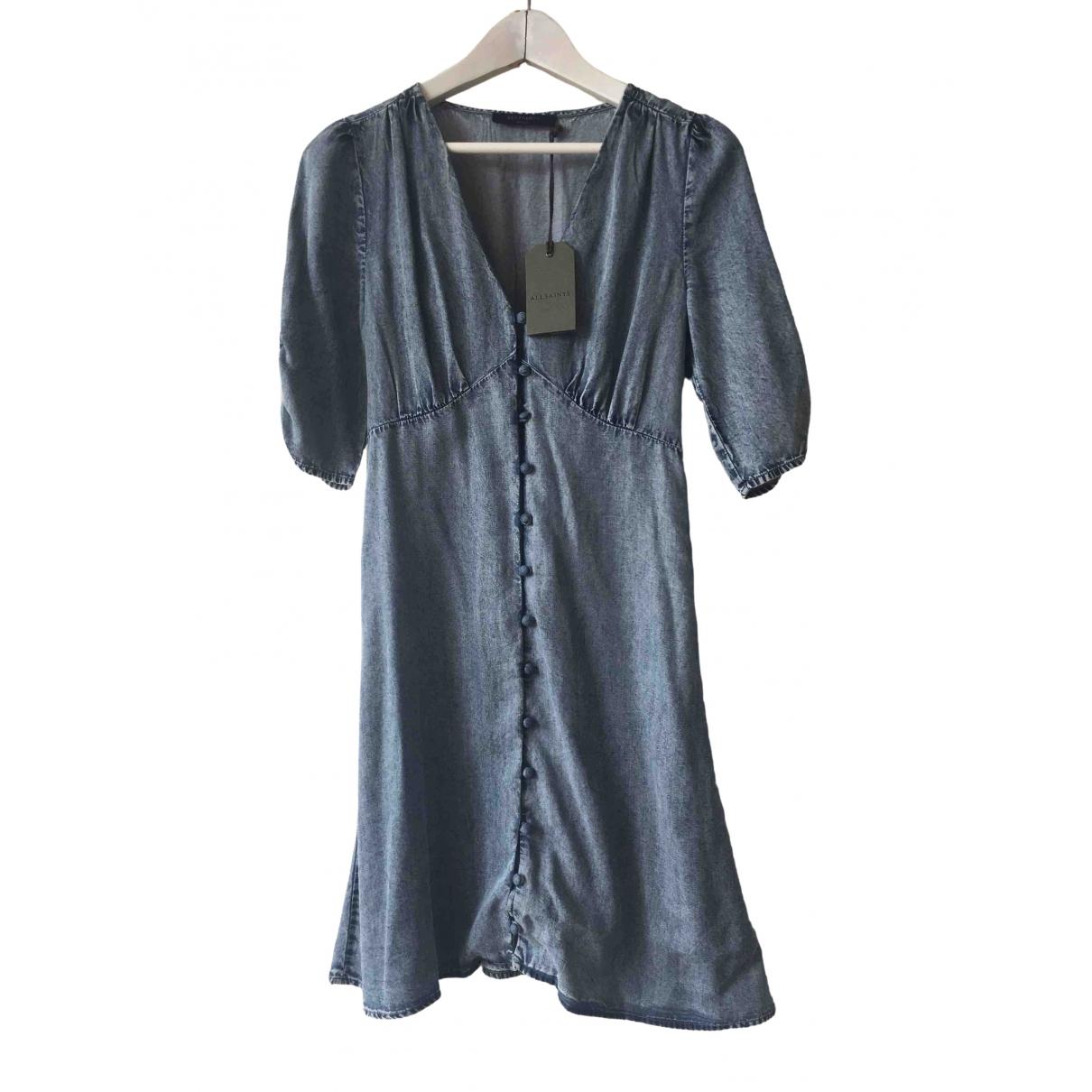 All Saints \N Kleid in  Blau Baumwolle