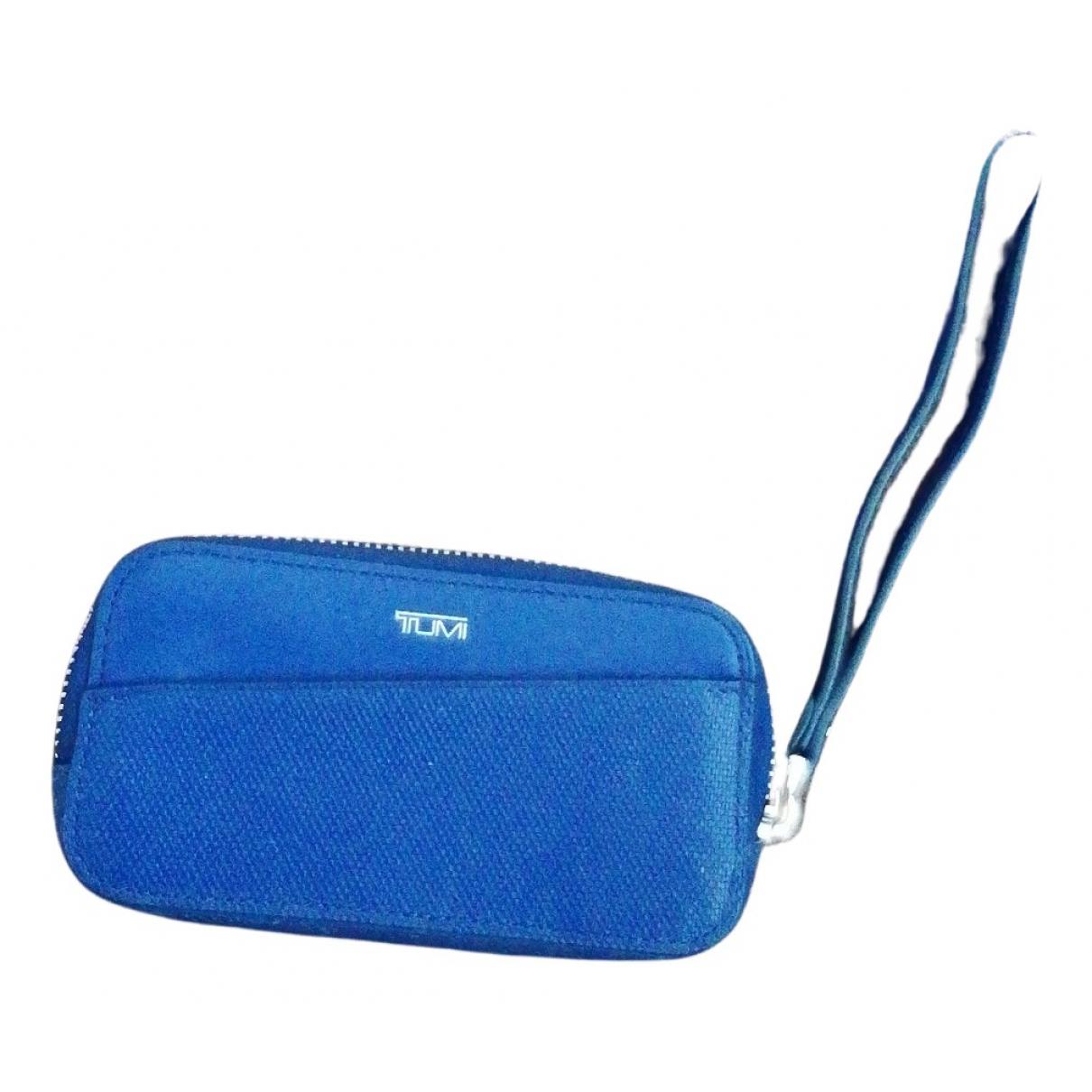 Tumi \N Kleinlederwaren in  Blau Leder
