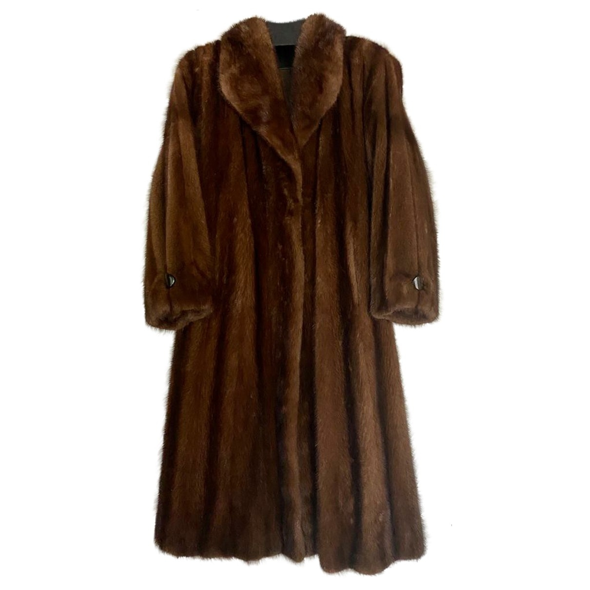 Non Signé / Unsigned \N Brown Mink coat for Women 44 FR
