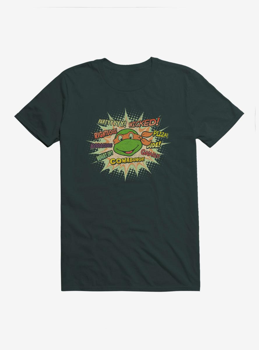 Teenage Mutant Ninja Turtles Michelangelo Catch Phrases T-Shirt