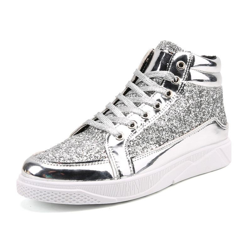 Ericdress Sequin Mid-Cut Plain Men's Athletic Shoes