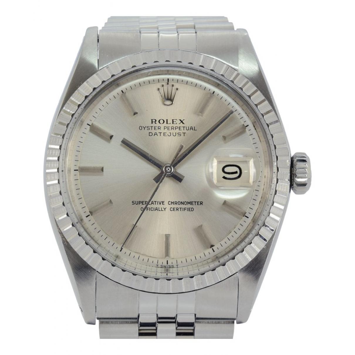 Rolex Datejust 36mm Uhr in  Silber Stahl