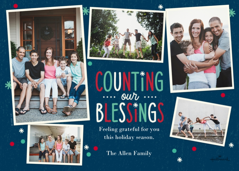 Religious Christmas Cards 5x7 Cards, Standard Cardstock 85lb, Card & Stationery -Counting Our Blessings